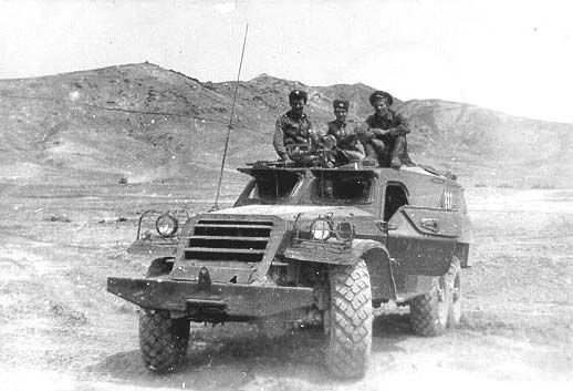 Десантники на БТР-152 ВС ДРА. Кандагар. 1981. Soviet paratroopers on BTR-152 of Afghan army. Kandaghar. 1981.