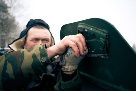 Михаил Рыжков механик-водитель хранитель старины, ветеран российской армии в отставке.